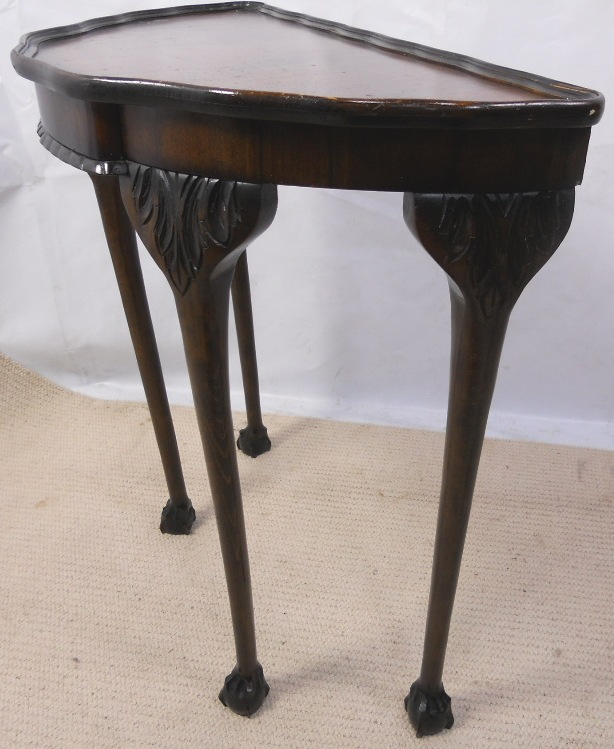 Georgian Style Half Round Walnut Console Table